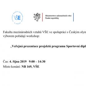 Veřejná prezentace projektů programu Sportovní diplomacie